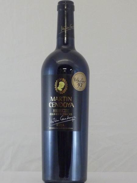 Martin Cendoya Reserva 2012 Rioja Club de Barrique